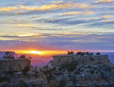 Buttes at sunset, Grand Canyon, Mather Point, Grand Canyon National Park, Arizona