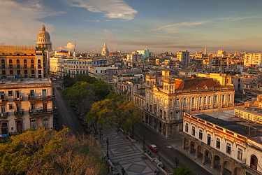 City at sunrise, Havana, Cuba