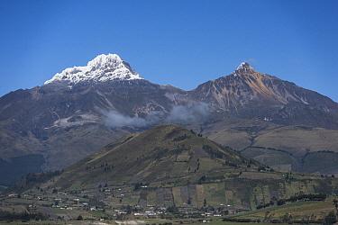 Volcanoes, Illiniza Sur, Illiniza Norte, Illinizas Ecological Reserve, Andes, Ecuador