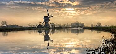 Traditional windmill, Alblasserwaard polder, Netherlands