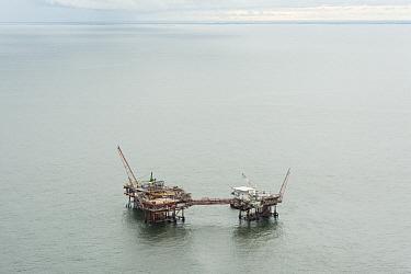 Oil rig drilling platform, Louisiana