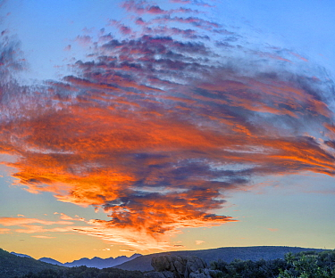 Clouds at sunset, Black Canyon of the Gunnison National Park, Colorado