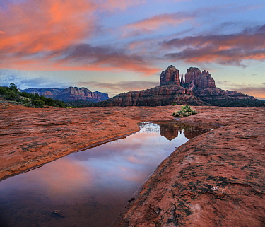Cathedral Rock at sunset, Coconino National Forest, Arizona