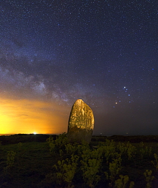 Megalith and Milky Way, Brittany, France