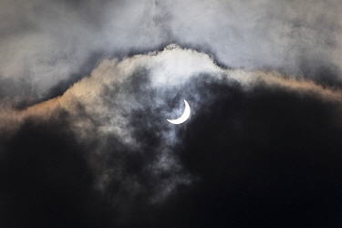 Partial solar eclipse, Brittany, France