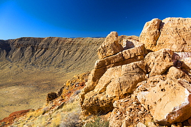 Meteor Crater is a meteorite impact crater, Arizona