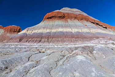 Striations in hillside, Petrified Forest National Park, Arizona