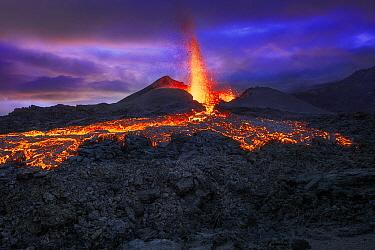 Piton de la Fournaise volcano erupting, Reunion Island, Indian Ocean (May 2015)