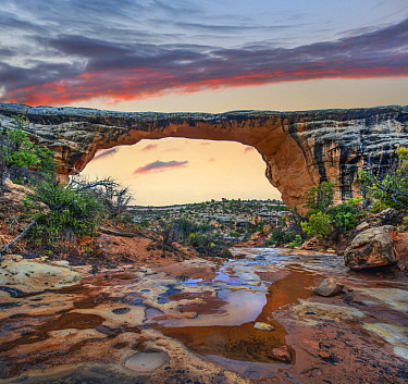Arch, Owachomo Bridge, Natural Bridges National Monument, Utah