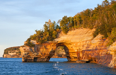 Rock bridge, Pictured Rocks National Lakeshore, Michigan
