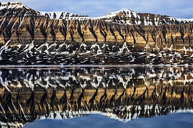 Coastal mountains, Svalbard, Norway
