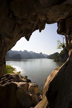 Tunnel view, Ha Long Bay, Cat Ba Island, Vietnam