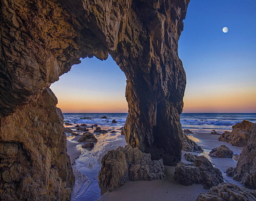 Arch on beach, El Matador State Beach, California