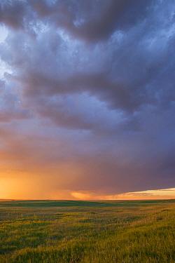 Storm over prairie, Badlands National Park, South Dakota