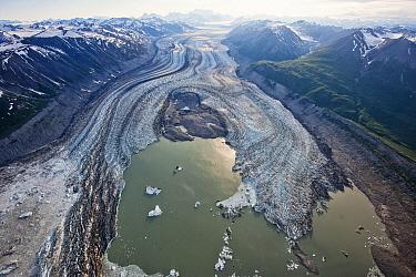 Lowell Glacier and Alsek Lake, Kluane National Park, Yukon, Canada