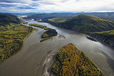 Yukon River outside of Dawson City, Yukon, Canada