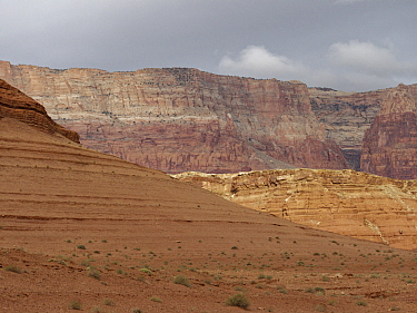 Vermillion Cliffs National Monument from entrance to Lee's Ferry, Glen Canyon National Recreation Area, Arizona
