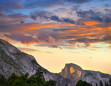 Sunrise over Half Dome, Yosemite Valley, Yosemite National Park, California