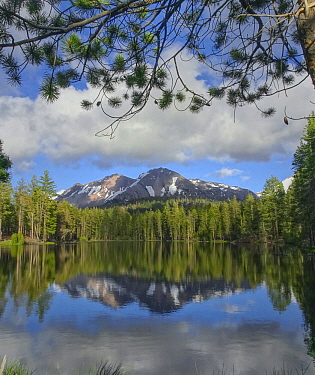 Eagle Peak from Mirror Lake, Cascade Range, Lassen Volcanic National Park, California