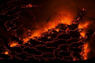 Lava at night, Mount Nyiragongo, Virunga National Park, Democratic Republic of the Congo