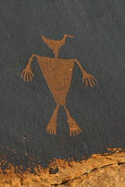 Duckhead Man petroglyph made by Ancestral Puebloans, Cedar Mesa, Bears Ears National Monument, Utah