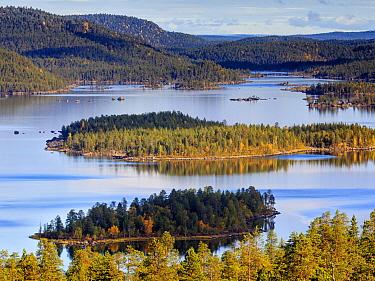 Islands in Lake Inari, Lapland, Finland