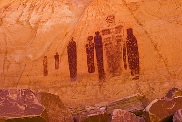 Great Gallery pictograph panel in the Barrier Canyon style, Horseshoe Canyon, Canyonlands National Park, Utah