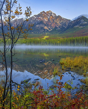 Pyramid Mountain from Pyramid Lake, Jasper National Park, Alberta, Canada
