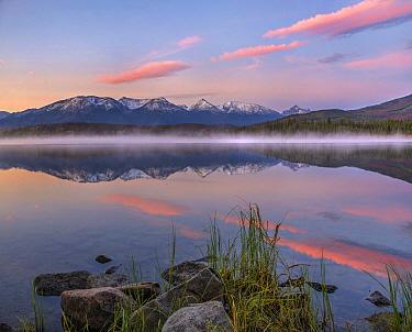 Trident Range from Pyramid Lake, Jasper National Park, Alberta, Canada