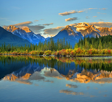 Rocky Mountains from Vermilion Lakes, Banff National Park, Alberta, Canada