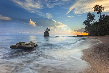 Beach at sunrise, Cahuita National Park, Costa Rica
