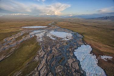 River flowing across coastal plain, Arctic National Wildlife Refuge, Alaska