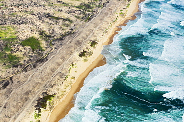 Waves breaking along coast, Garden Route National Park, Western Cape, South Africa