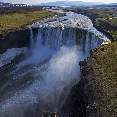 Waterfall in plateau, Putoransky State Nature Reserve, Putorana Plateau, Siberia, Russia