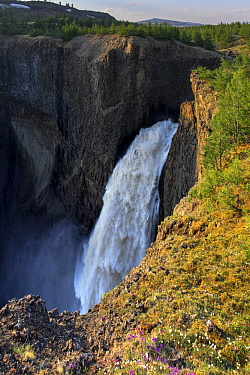 Waterfall, Putoransky State Nature Reserve, Putorana Plateau, Siberia, Russia