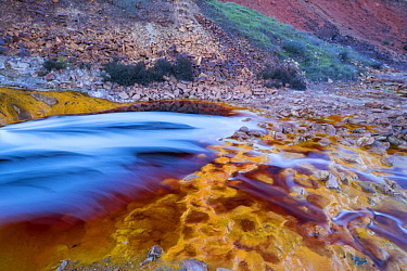 Mineral deposits in river, Tinto River, Sierra Morena, Andalucia, Spain