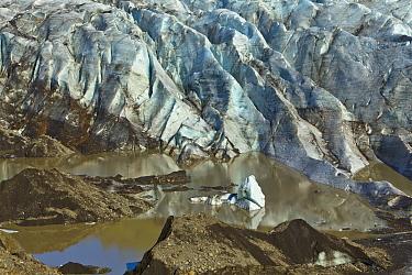 Terminal moraine, Skaftafellsjokull Glacier, Skaftafell National Park, Iceland
