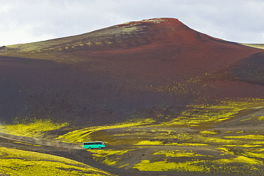 Volcanic hill and lake, Laki Craters, Iceland