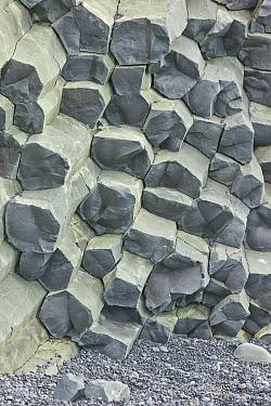 Polygons of massive basalt columns in cliffs, Reynisdrangar, Iceland