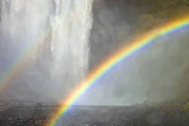 Double rainbow and Skogafoss Waterfall, Iceland