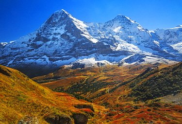 Mountains in autumn, Eiger and Moench, Switzerland
