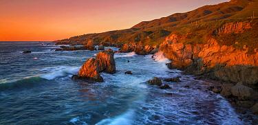 Waves crashing along coast, Garrapata State Beach, California