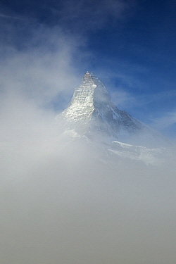Peak in clouds, Matterhorn, Zermatt, Switzerland