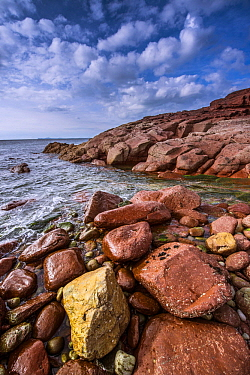 Rocky coastline, Pembrokeshire Coast National Park, Wales, United Kingdom