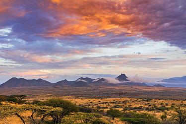 Mountains at sunrise, Mount Nyiru, El Barta, Kenya