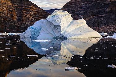 Iceberg along coast, Scoresby Sound, Greenland