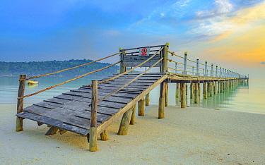 Abandoned pier on beach, Koh Rong Samloem Island, Cambodia
