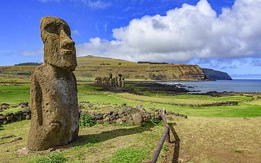 Moai statues, Ahu Tongariki, Easter Island, Chile