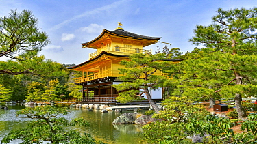 Golden pavilion, Ginkaku-ji, Kyoto, Japan