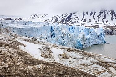 Coastal glacier, Kross Fjord, Spitsbergen, Svalbard, Norway
